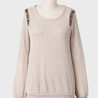 Brunch In Williamsburg Embellished Sweater