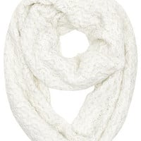 White tassel edge snood