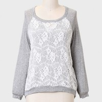 Choose Happiness Lace Detail Top