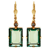 Rectangular Crystal Earrings, MarineLA VIE PARISIENNE