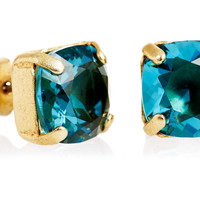 Square Crystal Post Earrings, TealLA VIE PARISIENNE