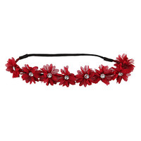 LOVEsick Burgundy Flower Stretchy Headband