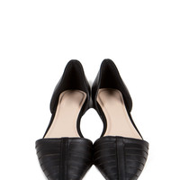 On Point Leather Flats - Black