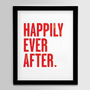 Happily Ever After  Red 8x10 by nickagin on Etsy $16