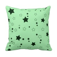 Rain of Stars Green Pillow