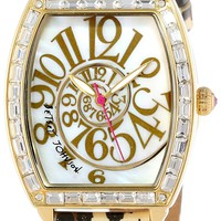 Betsey Johnson Women's BJ00242-09 Analog Leopard Strap Watch