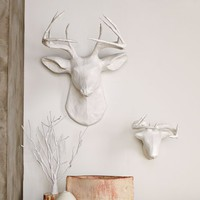 Papier-Mâché Animal Sculptures - White Deer