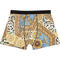 BLACK BAROQUE PRINT BOXER SHORTS