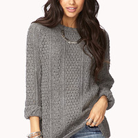 Cozy Mixed Knit Sweater