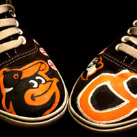 Men's Baltimore Orioles Baseball Canvas Lace-Up Shoe