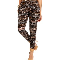 NvyBrnWht Tribal Chevron Pants