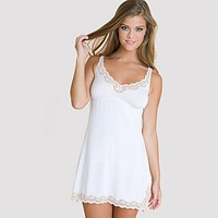 Lady Godiva Chemise (white) - Alley Rose Lingerie Club