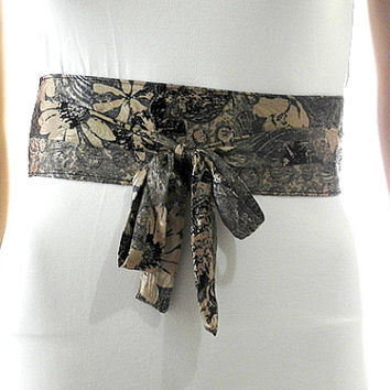 Beige Sash Belt Obi Waist Cincher - Black Sash Belt Obi Satin Obi Belt Waist Cincher - Belt Obi for Weddings Cocktail Evening Formal Party