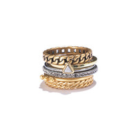 Chainlink Stacking Rings - rings - Women's JEWELRY - Madewell