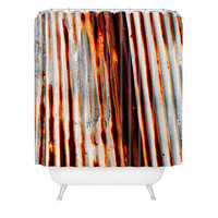 Caleb Troy Rusted Lines Shower Curtain