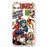 Unique! Avengers Vintage Marvel Comic Captain America Back Case Cover For Apple iphone 5 5G + Screen Protector