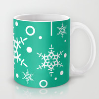 Let it Snow...(Emerald) Mug by Lisa Argyropoulos