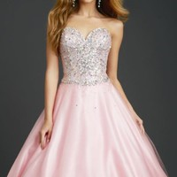 Straples Sweetheart Gown by Allure Quinceanera