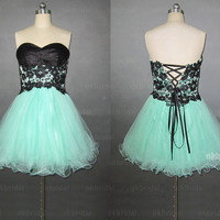 short prom dresses, lace prom dresses, mint prom dresses, cheap prom dresses, prom dresses 2014, sexy prom dresses, dresses for prom, RE513