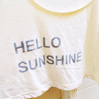 Hello Sunshine Crop Tee
