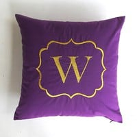 Custom made monogram pillow