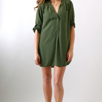 Zoa, Oversized Tunic in Olive
