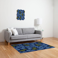 Heather Dutton Leaflet Marine Woven Rug