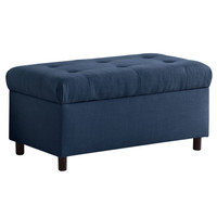 Skyline Furniture Tufted Linen Storage Bench