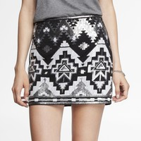 SEQUIN EMBELLISHED MINI SKIRT