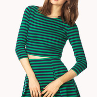 Mod Striped Crop Top
