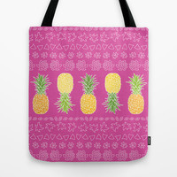 Pineapples #2 Tote Bag by Ornaart