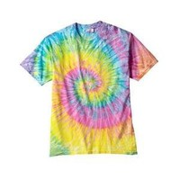 Tie-dye 100 Percent Cotton T-shirt Small - Saturn