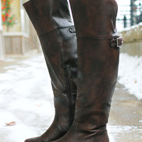 Stand Tall Riding Boot - Brown