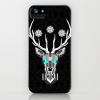 Silver Stag Geometric iPhone & iPod Case by chobopop