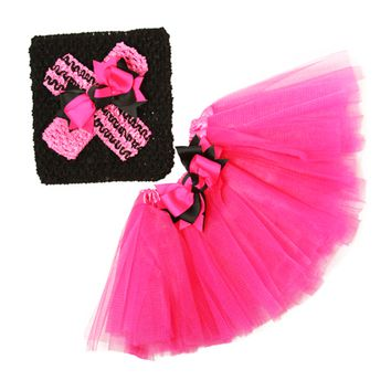 Kutsie Baby Newborn Hot Pink Tutu & Headband Gift Set