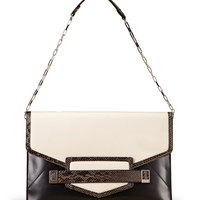 RAFE Black/White Sarina Clutch