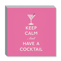 NEW Keep Calm and Have a Cocktail Canvas Print 12X12