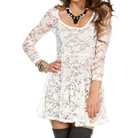 Ivory 3/4 Sleeve Babydoll Top
