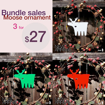Bundle Sales Moose Xmas Ornaments