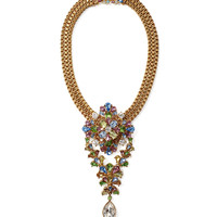 Ben-Amun Pastel Crystal and Gold Pendant Necklace - Swarovski Crystal Necklace - ShopBAZAAR