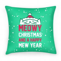 Meowy Christmas (pillow)