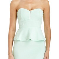 2B Ribbed Peplum Tube Dress