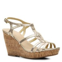 Kelly & Katie Tanya Metallic Wedge Sandal