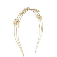 Gold Daisy Alice Band