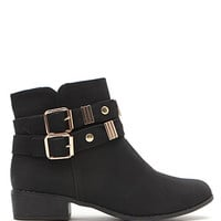 Black Poppy Gold Metal Short Boots at PacSun.com