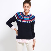 Seaside Fair Isle Raglan Sweater