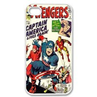 Unique! Avengers Vintage Marvel Comic Captain America Back Case Cover For Apple iphone 4 4s + Screen Protector