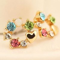 Rainbow And Heart Fashion Earrings