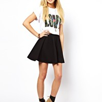 ASOS Skater Skirt in Ponte