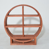 Bookcase Winerack Circular 3 shelf Wood Custom - The Zen - a MapleBear design